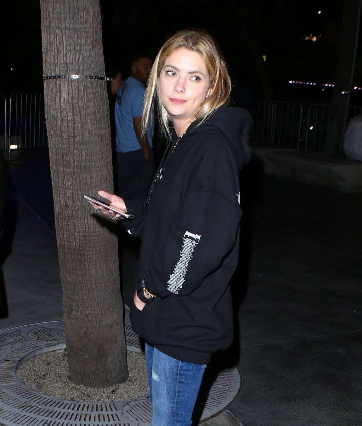 Ashley Benson - Leaving Justin Bieber Concert in Los Angeles