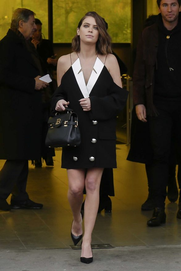 Ashley Benson - Leaving the Balmain show in Paris