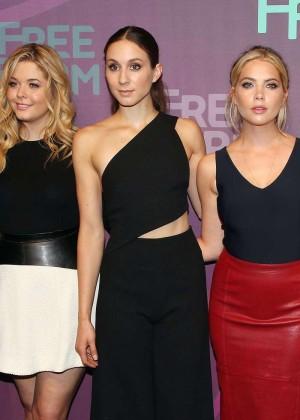 Ashley Benson, Lucy Hale, Shay Mitchell, Troian Bellisario and Sasha Pieterse - 2016 ABC Freeform Upfront in NY