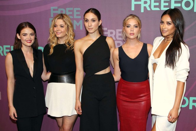 Ashley Benson, Lucy Hale, Shay Mitchell, Troian Bellisario and Sasha Pieterse – 2016 ABC Freeform Upfront in NY