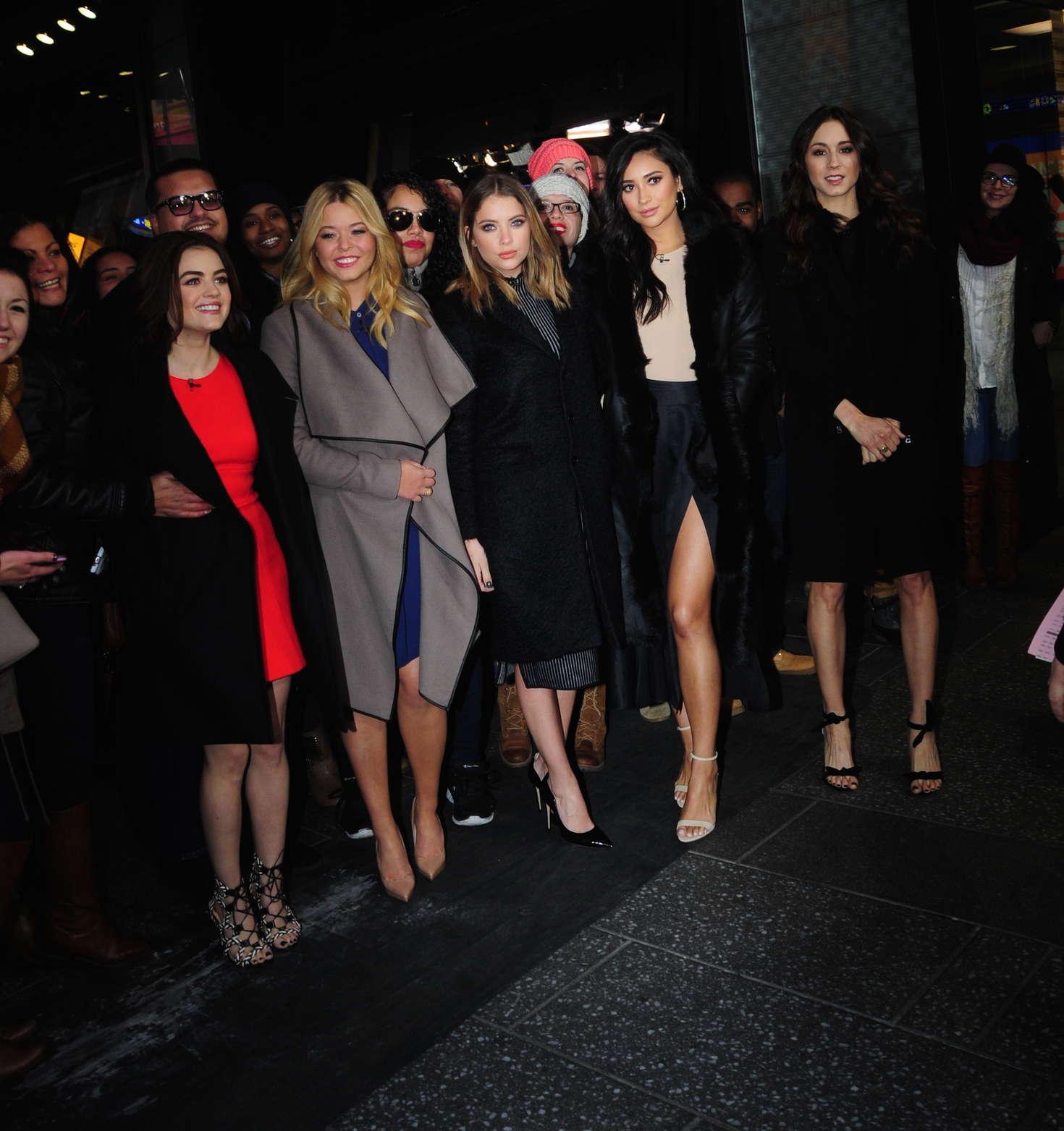 Ashley Benson, Lucy Hale, Shay Mitchell, Troian Bellisario and Sasha Pieterse - Good Morning America in NY