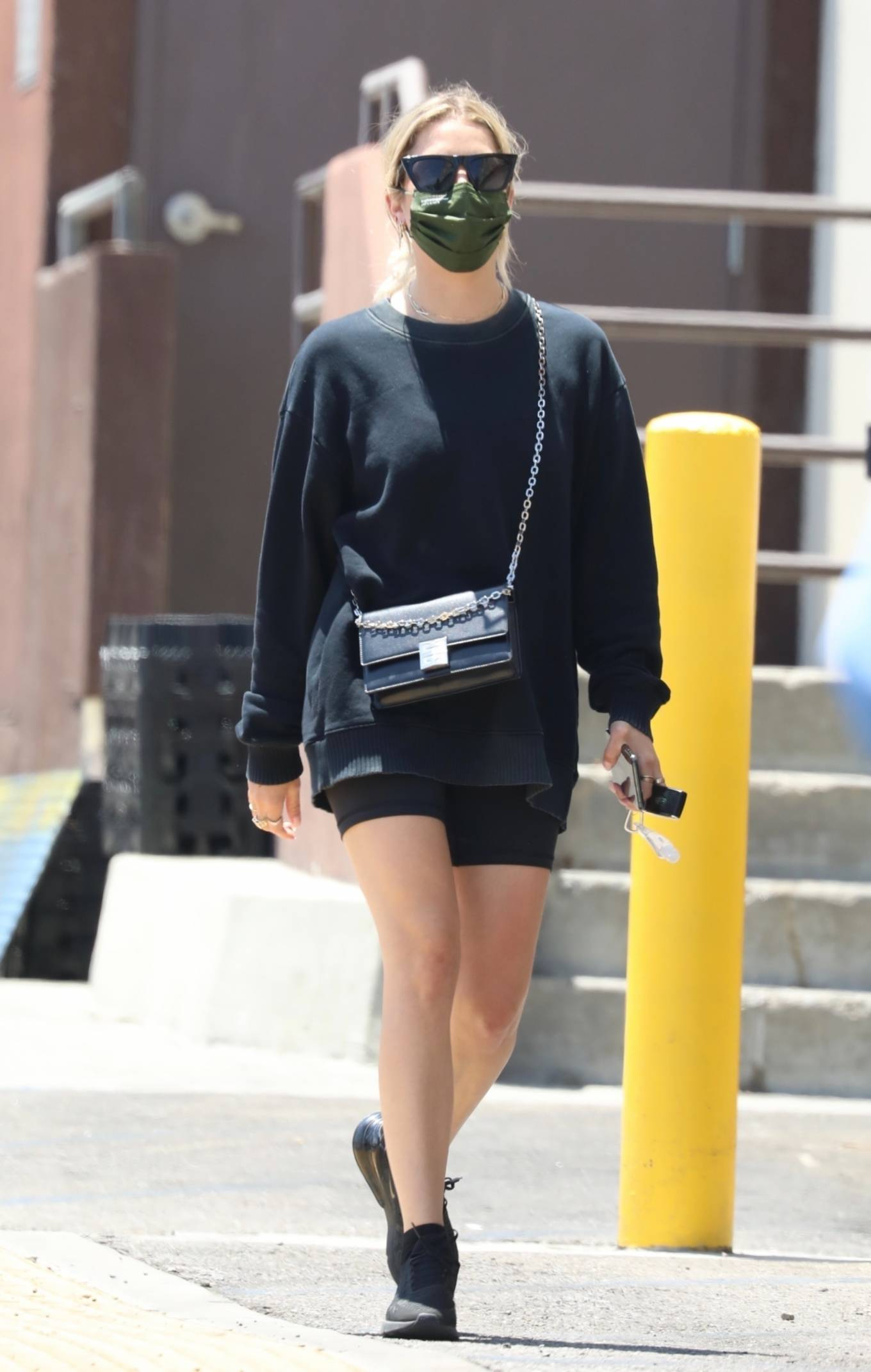 Ashley Benson - makes a quick trip to Rite Aid in West Hollywood - California