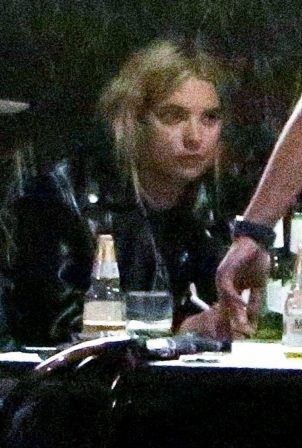 Ashley Benson - Out for a drinks with friends in Echo Park - California