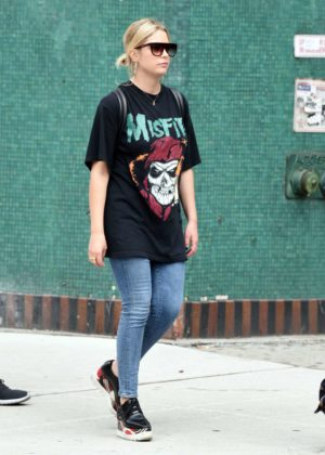 Ashley Benson out in Greenwich Village