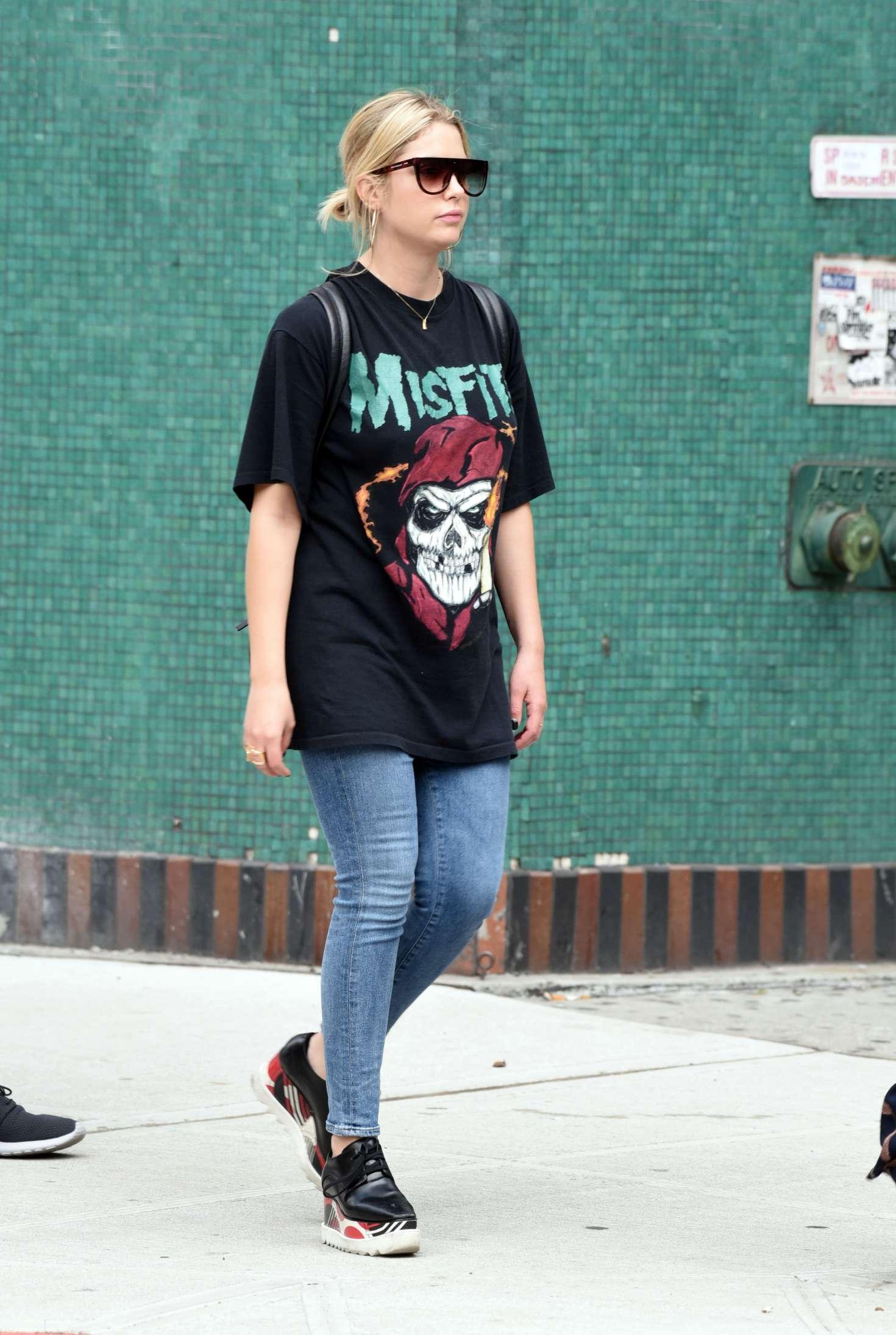Ashley Benson out in Greenwich Village