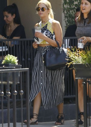 Ashley Benson in Long Dress out in LA