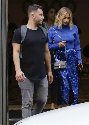Ashley Benson - Out of her hotel in Paris