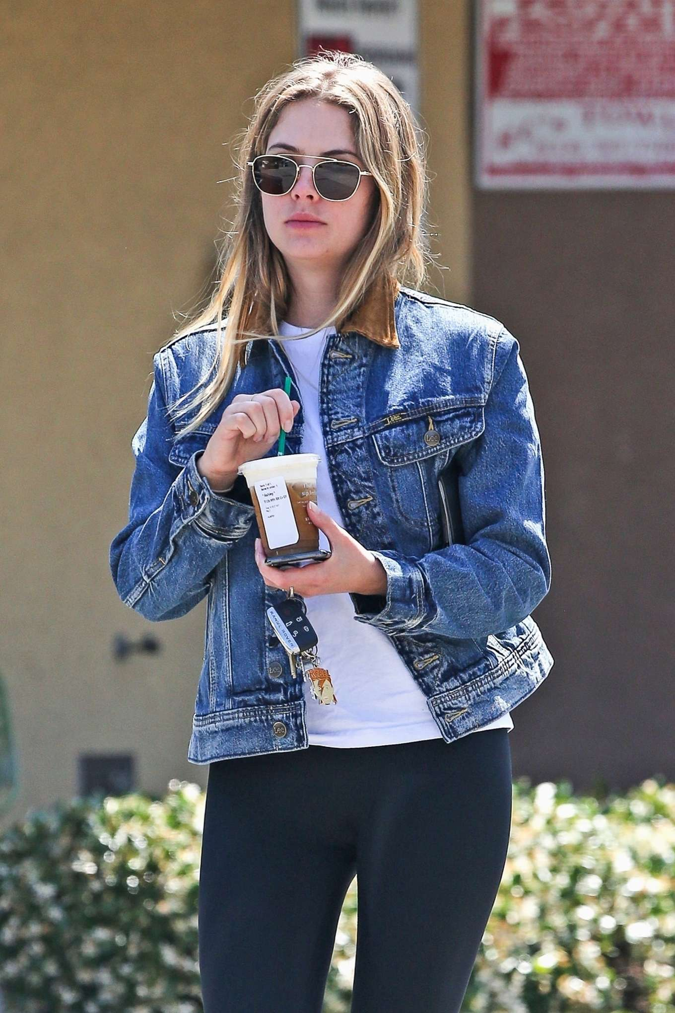 Ashley Benson - Out with a coffee in West Hollywood