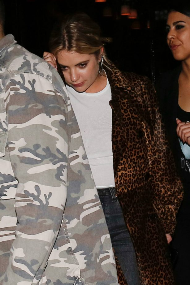 Ashley Benson - Pictured while leaving her hotel in Paris