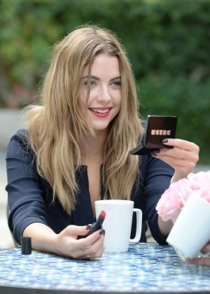 Ashley Benson - Posing for Buxom Bold Gel Lipstick in LA