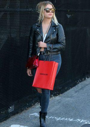 Ashley Benson returns from The Hamptons in New York City