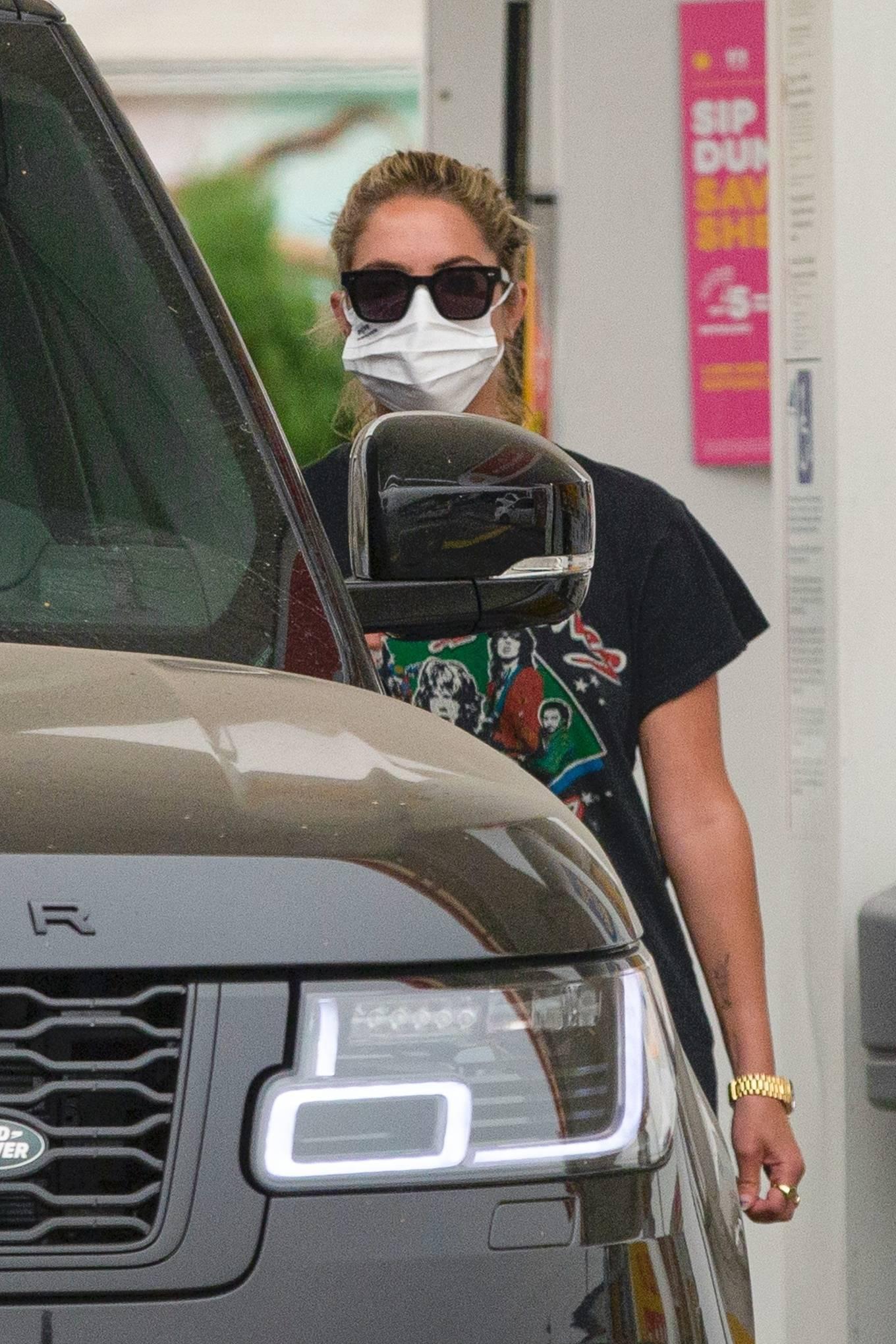Ashley Benson 2020 : Ashley Benson – seen at a gas station in Los Angeles-05