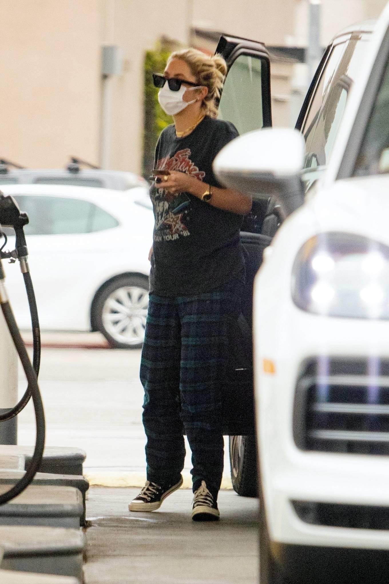 Ashley Benson 2020 : Ashley Benson – seen at a gas station in Los Angeles-11