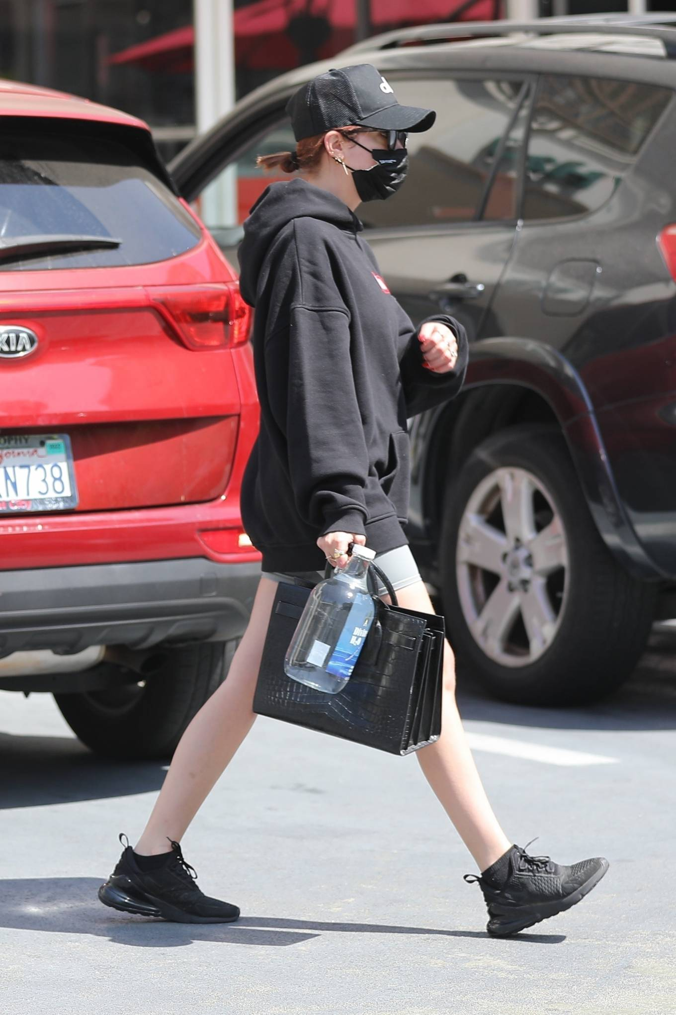 Ashley Benson 2021 : Ashley Benson – seen out and about in Beverly Hills-09