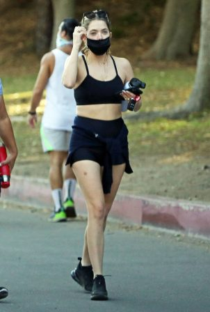 Ashley Benson - Seen while out for a hike with a friend in Los Angeles