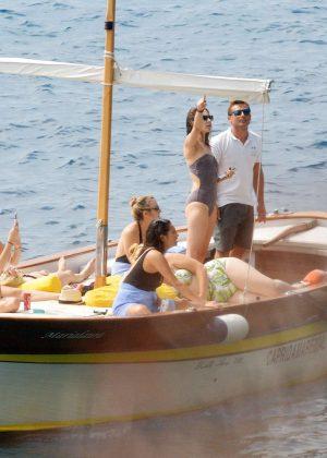 Ashley Benson, Shay Mitchell and Troian Bellisario on a boat in Capri -01