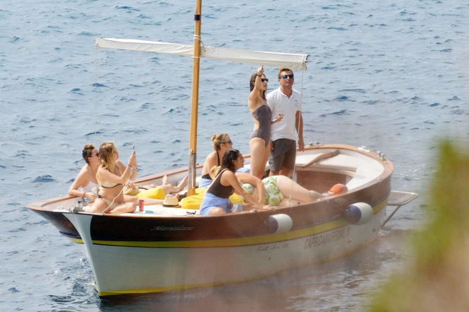 Ashley Benson, Shay Mitchell and Troian Bellisario on a boat in Capri -01