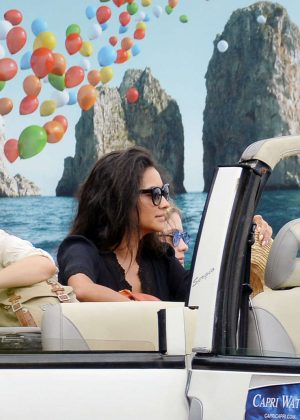 Ashley Benson, Shay Mitchell and Troian Bellisario on a boat in Capri -02