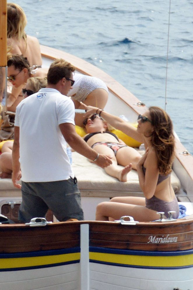Ashley Benson, Shay Mitchell and Troian Bellisario on a boat in Capri -05