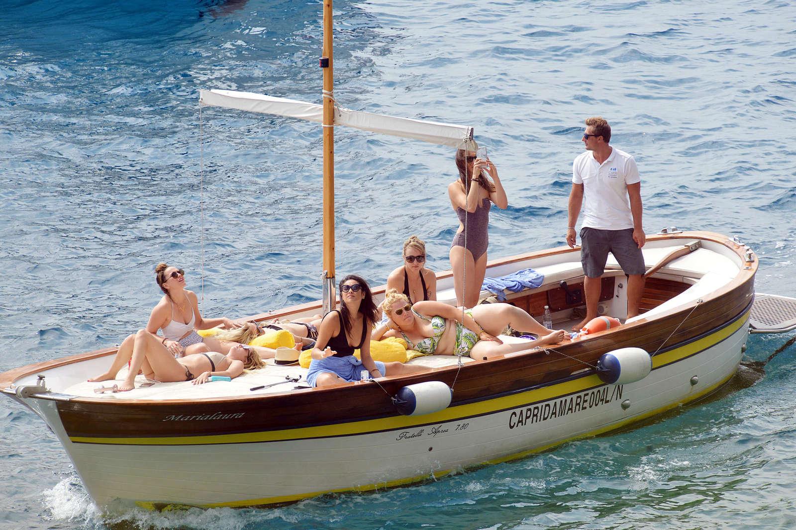 Ashley Benson 2016 : Ashley Benson, Shay Mitchell and Troian Bellisario on a boat in Capri -06