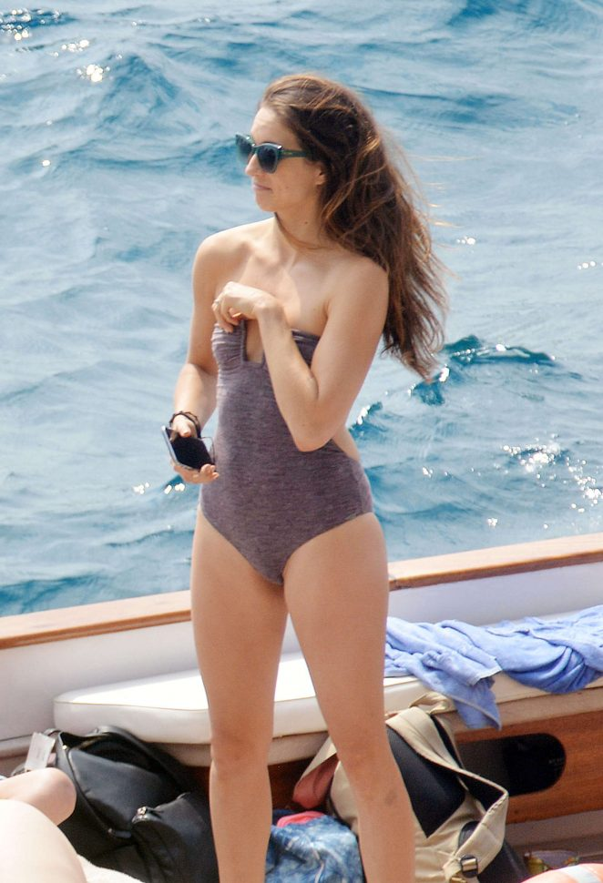 Ashley Benson, Shay Mitchell and Troian Bellisario on a boat in Capri -09