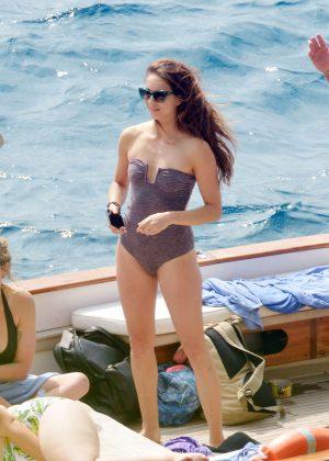 Ashley Benson, Shay Mitchell and Troian Bellisario on a boat in Capri -12