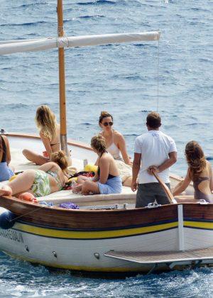 Ashley Benson, Shay Mitchell and Troian Bellisario on a boat in Capri -13