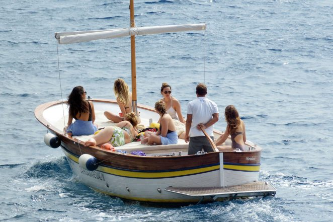 Ashley Benson, Shay Mitchell and Troian Bellisario on a boat in Capri -13