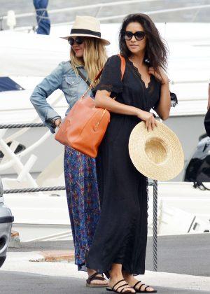 Ashley Benson, Shay Mitchell and Troian Bellisario on a boat in Capri -15