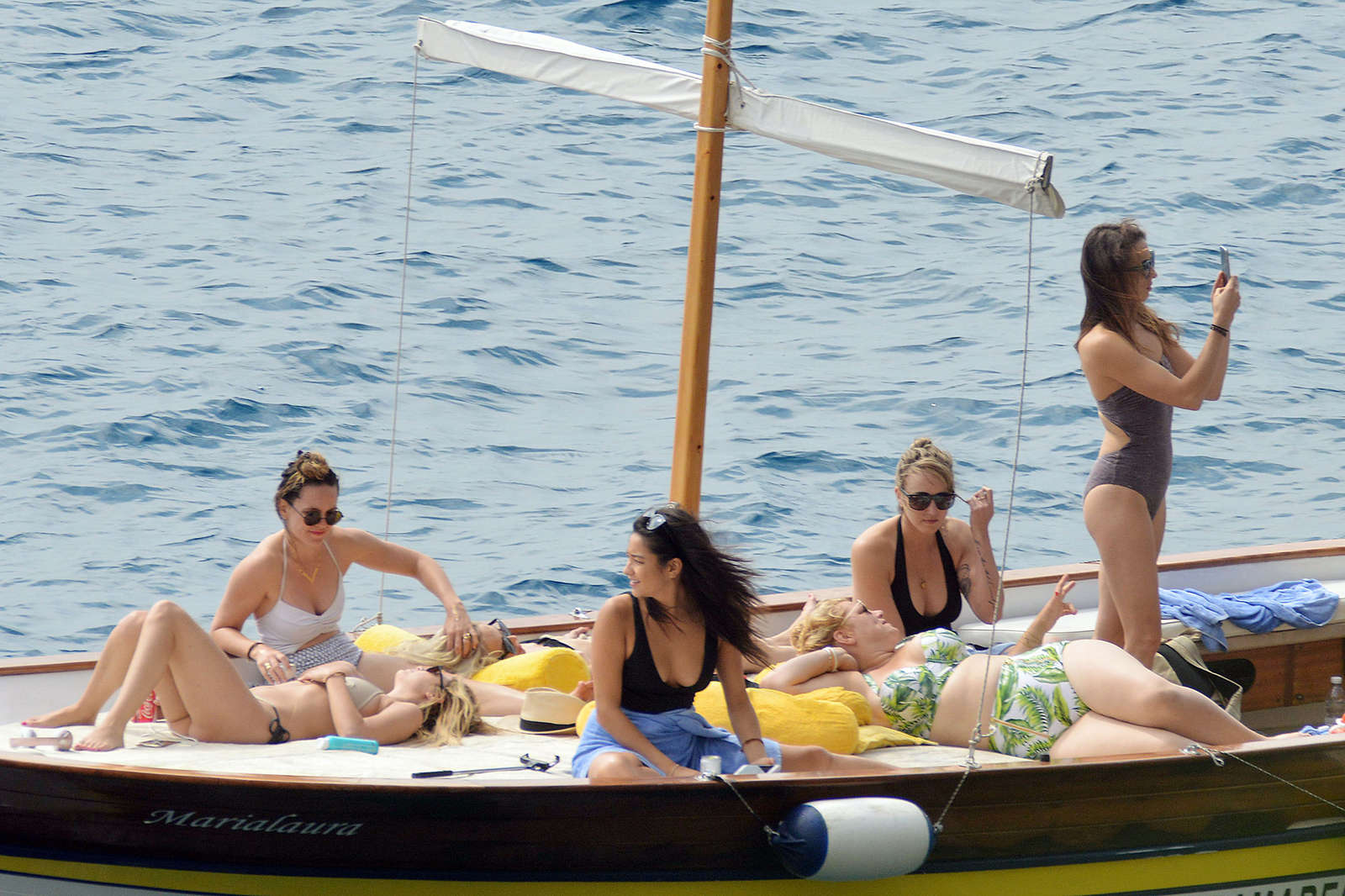 Ashley Benson 2016 : Ashley Benson, Shay Mitchell and Troian Bellisario on a boat in Capri -16