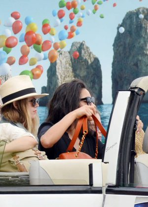 Ashley Benson, Shay Mitchell and Troian Bellisario on a boat in Capri -17