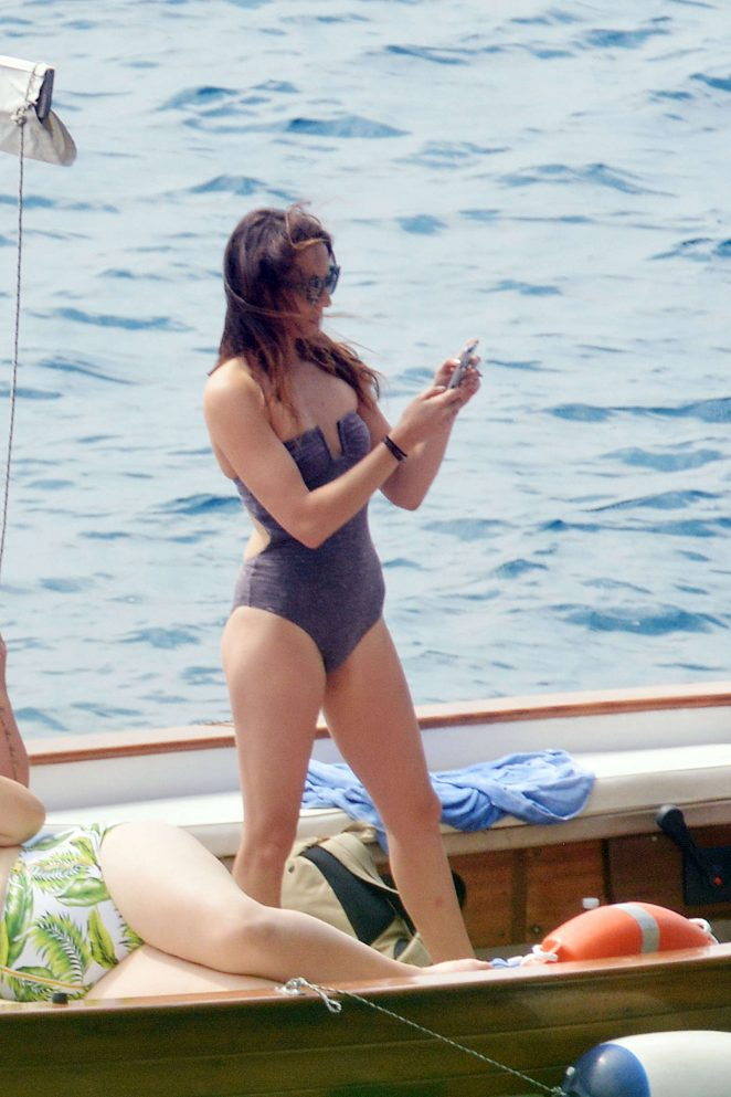 Ashley Benson, Shay Mitchell and Troian Bellisario on a boat in Capri -18