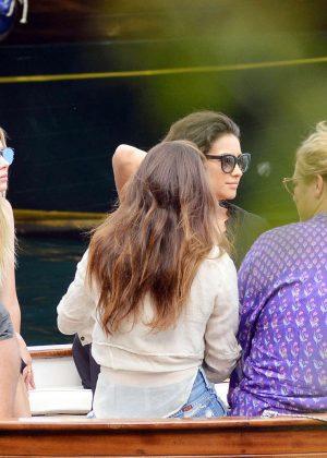 Ashley Benson, Shay Mitchell and Troian Bellisario on a boat in Capri -20