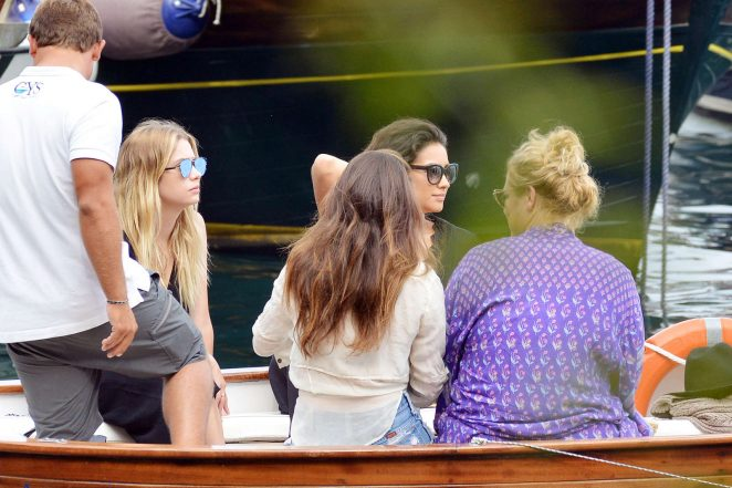 Ashley Benson, Shay Mitchell and Troian Bellisario on a boat in Capri -20