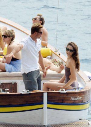 Ashley Benson, Shay Mitchell and Troian Bellisario on a boat in Capri -21