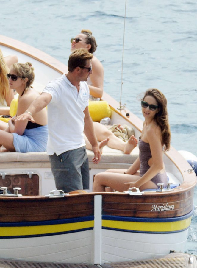 Ashley Benson, Shay Mitchell and Troian Bellisario on a boat in Capri -21