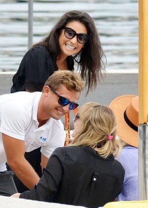 Ashley Benson, Shay Mitchell and Troian Bellisario on a boat in Capri -23