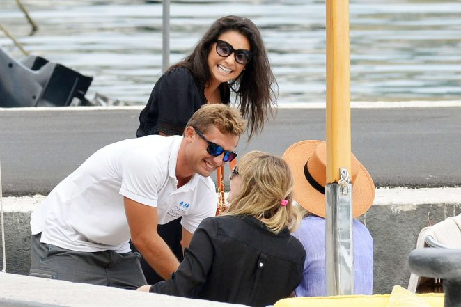 Ashley Benson, Shay Mitchell and Troian Bellisario on a boat in Capri -23