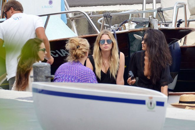 Ashley Benson, Shay Mitchell and Troian Bellisario on a boat in Capri -25