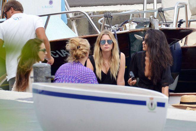 Ashley Benson, Shay Mitchell and Troian Bellisario on a boat in Capri -25