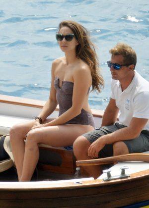 Ashley Benson, Shay Mitchell and Troian Bellisario on a boat in Capri -27