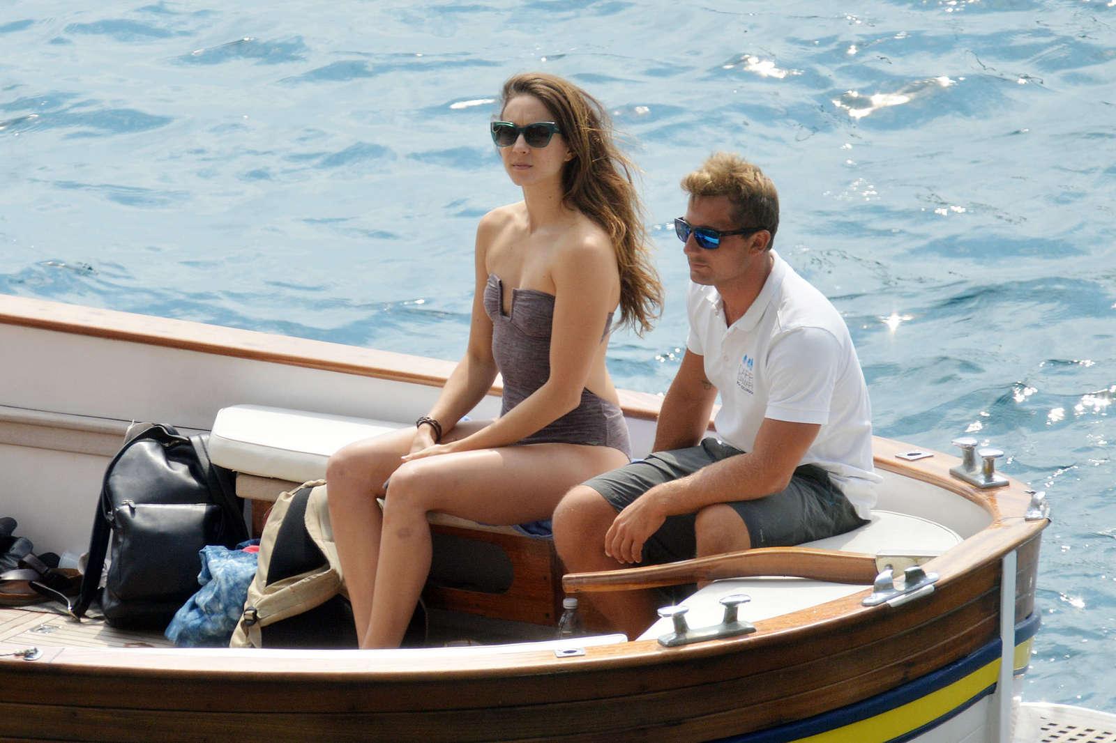 Ashley Benson 2016 : Ashley Benson, Shay Mitchell and Troian Bellisario on a boat in Capri -27