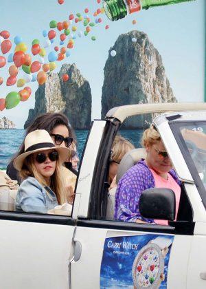 Ashley Benson, Shay Mitchell and Troian Bellisario on a boat in Capri -28