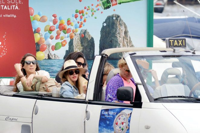 Ashley Benson 2016 : Ashley Benson, Shay Mitchell and Troian Bellisario on a boat in Capri -28