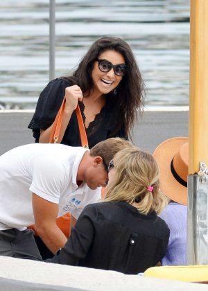 Ashley Benson, Shay Mitchell and Troian Bellisario on a boat in Capri -29