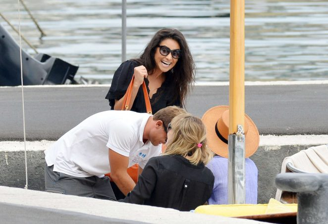 Ashley Benson, Shay Mitchell and Troian Bellisario on a boat in Capri -29