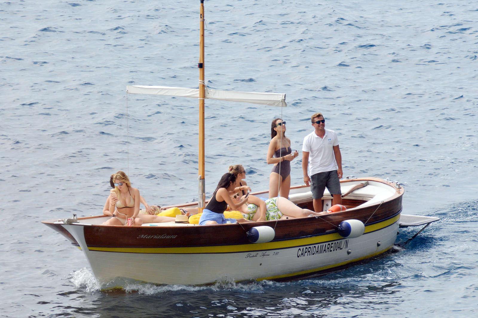Ashley Benson 2016 : Ashley Benson, Shay Mitchell and Troian Bellisario on a boat in Capri -31