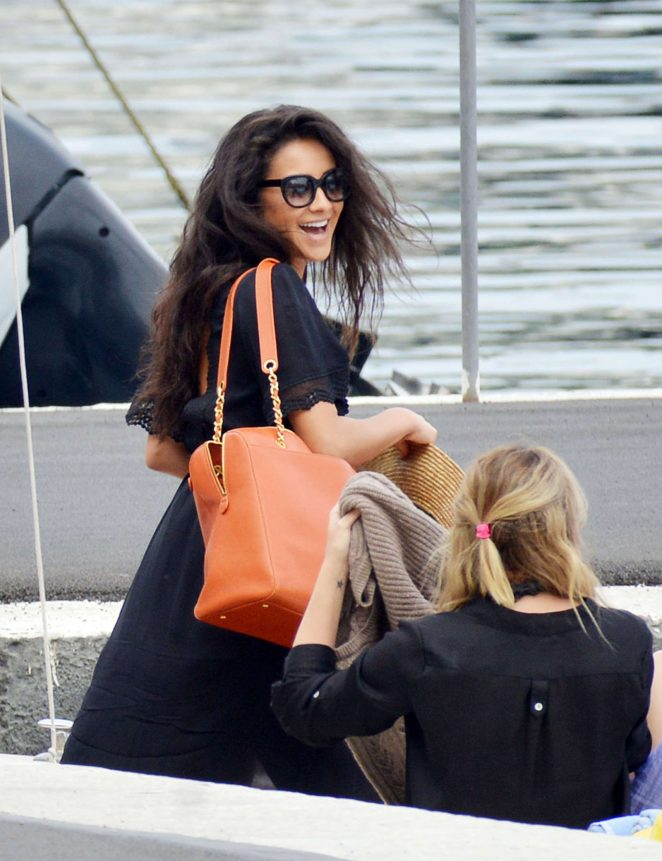 Ashley Benson, Shay Mitchell and Troian Bellisario on a boat in Capri -32