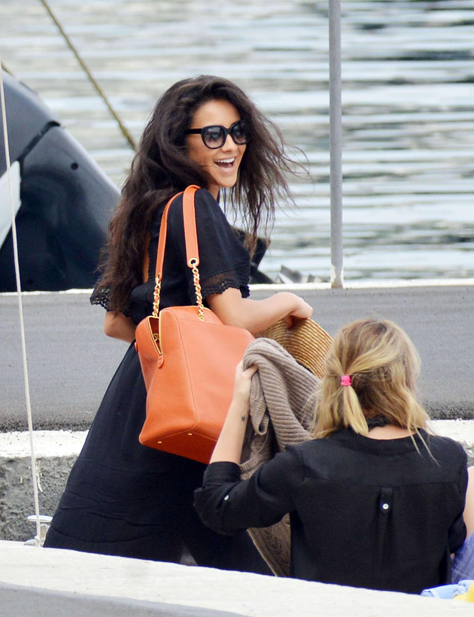 Ashley Benson 2016 : Ashley Benson, Shay Mitchell and Troian Bellisario on a boat in Capri -32