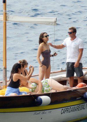Ashley Benson, Shay Mitchell and Troian Bellisario on a boat in Capri -34
